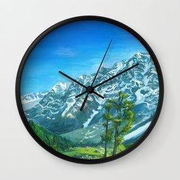 Himalaya mountains Wall Clock