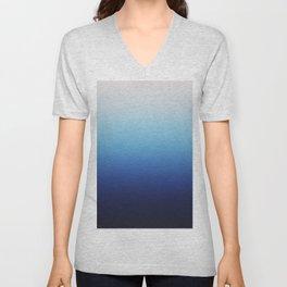 Ombre Blue Unisex V-Neck