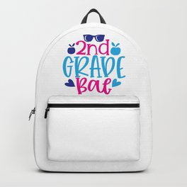 Nd  Grade Bae - Funny School humor - Cute typography - Lovely kid quotes illustration Backpack