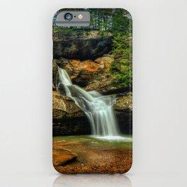 USA Hocking Hills State Park Rock Nature Waterfalls Crag Cliff iPhone Case