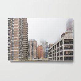 new york city in the clouds Metal Print