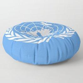 United Nations Flag Floor Pillow