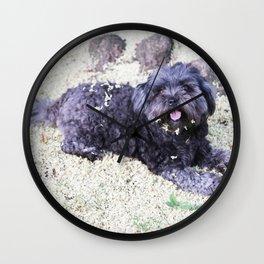 puppy blossom Wall Clock