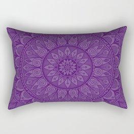 Plum Mandala 5 Rectangular Pillow