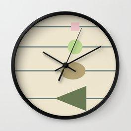 beading || april grass Wall Clock