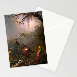 CATTLEYA ORCHID AND THREE BRAZILIAN HUMMINGBIRDS - MARTIN JOHNSON HEADE Stationery Cards