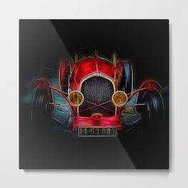 Fractal Red vintage car Metal Print