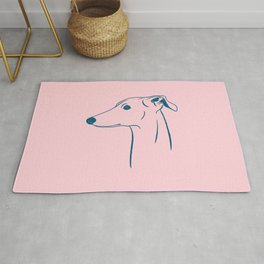 Italian Greyhound (Pink and Blue) Rug