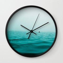 turquoise sea Wall Clock