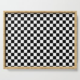 Chess Board Pattern Serving Tray