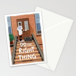 Do the Right Thing alternate movie poster Stationery Cards