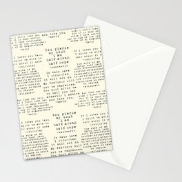 Passion of Jane Austen - Cream Stationery Cards
