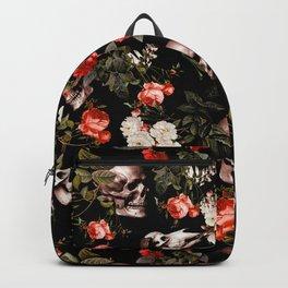Floral and Skull Dark Pattern Rucksack