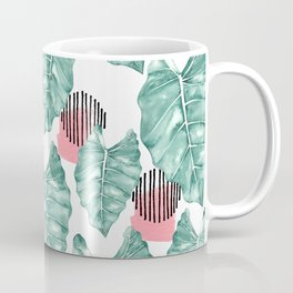 Watercolor tropical leaves abstract Coffee Mug