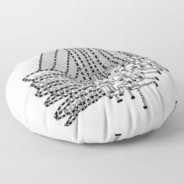 Armada Abstract Floor Pillow