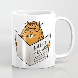 Daily meows by Julia Gosteva Coffee Mug
