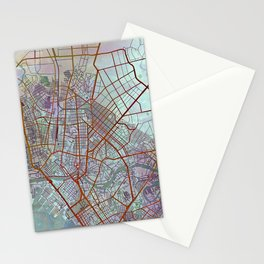 Manila Philippines Watercolor Street Map Urban Stationery Cards