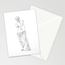 Minimal line illustration study of Venus de milo Stationery Cards