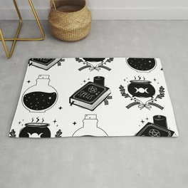 witch craft items pattern Rug