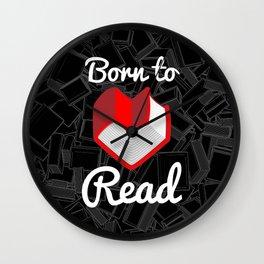 Born to Read Wall Clock