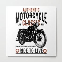 Classic Motorcycles Metal Print