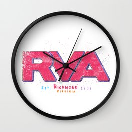 Rva Logo | ' Graffiti Style ' Wall Clock