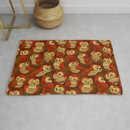 Northern Saw-whet owls pattern. Rug
