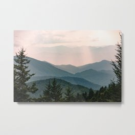 Smoky Mountain Pastel Sunset Metal Print