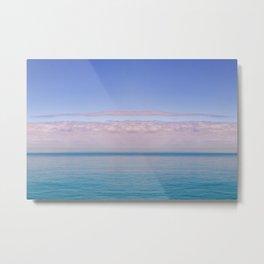 Pink Bermuda Sunrise over the Ocean Metal Print