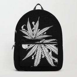 Marijuana leaf with smoke Backpack