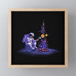 Moon Camping Framed Mini Art Print