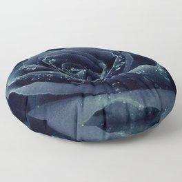 Blue rose Floor Pillow