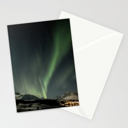 Northern Light Show Natural Fireworks Photo | Aurora Borealis Norway Art Print | Travel Photography Stationery Cards