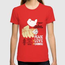 Peace Love & Cannoli Funny Cannoli Lover Gift T-shirt