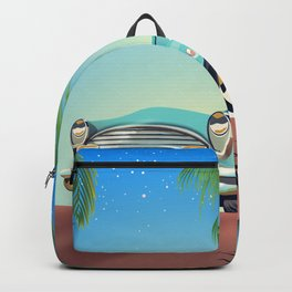 Classic Car vintage poster Backpack