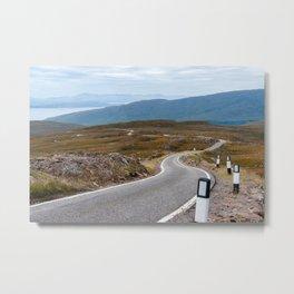 Scotland: Narrow single-track road Metal Print