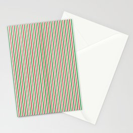 Christmas Time for Stripes Stationery Cards