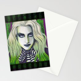 Ghoul Gothic Green Portrait Stationery Cards