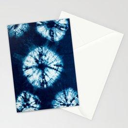 indigo tie dye Stationery Cards