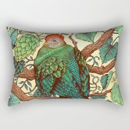 Tipsy Turaco Rectangular Pillow