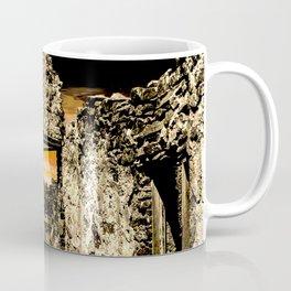 Sunset Behind Dripping Springs Ranch Ruins, New Mexico Coffee Mug