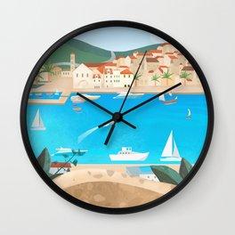 Hvar island 2 Wall Clock