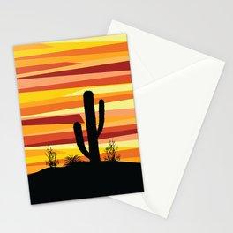 Geometric desert sunset Stationery Cards