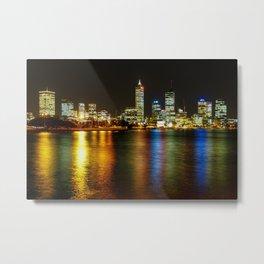 Perth Skyline At Night Metal Print