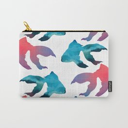 Pattern Oil Painting Abstract Tropical Fish Carry-All Pouch