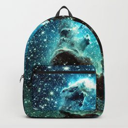 Teal Turquoise Blue Pillars of Creation Backpack