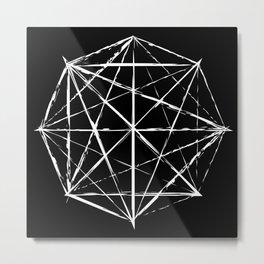 Octagon Diagonals Metal Print