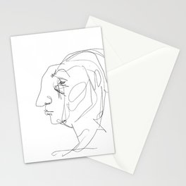 He looked older from the side Stationery Cards