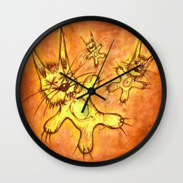 Record Cover for some Jazzed Rabbits, Orangish. Wall Clock
