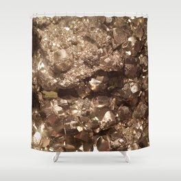 Gold Gemstone Photography | Luxury | Quartz | Crystal | Nature | Landscape Shower Curtain